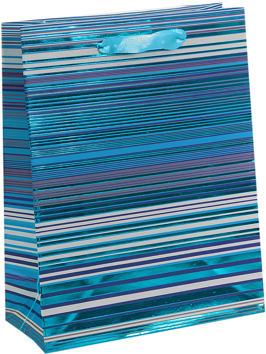 Пакет подарочный Люкс. Полоски, цвет: синий, 18 х 8 х 23 см. 26543702654370Любой подарок начинается с упаковки. Что может быть трогательнее и волшебнее, чем ритуал разворачивания полученного презента. И именно оригинальная, со вкусом выбранная упаковка выделит ваш подарок из массы других. Она продемонстрирует самые теплые чувства к виновнику торжества и создаст сказочную атмосферу праздника. Пакет подарочный Полоски, люкс - это то, что вы искали.