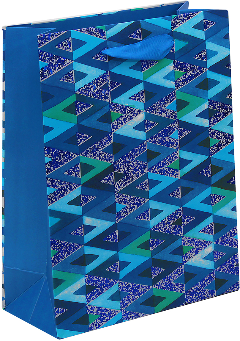 Пакет подарочный Люкс. Геометрия, цвет: синий, 31 х 42 х 12 см. 26544242654424Любой подарок начинается с упаковки. Что может быть трогательнее и волшебнее, чем ритуал разворачивания полученного презента. И именно оригинальная, со вкусом выбранная упаковка выделит ваш подарок из массы других. Она продемонстрирует самые теплые чувства к виновнику торжества и создаст сказочную атмосферу праздника. Пакет подарочный Геометрия - это то, что вы искали.