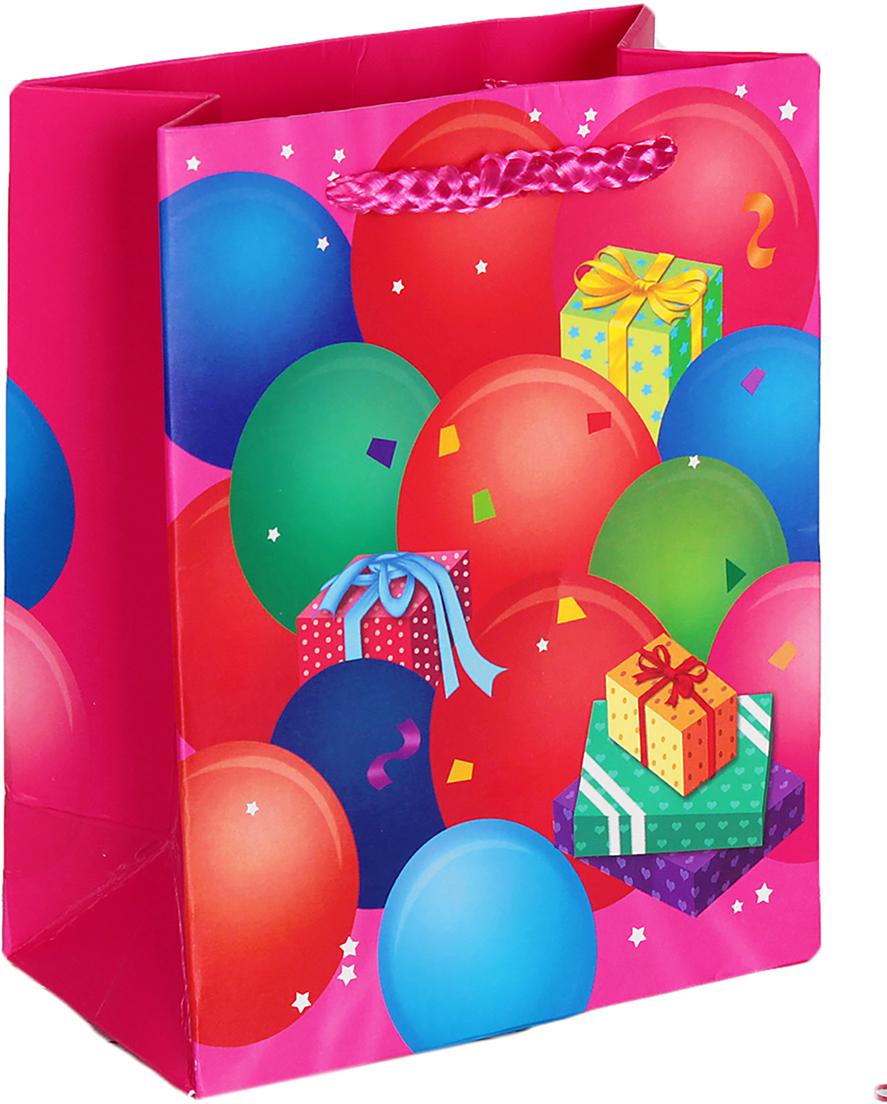 Пакет подарочный Люкс. Праздничный, цвет: мультиколор, 14 х 11 х 6 см. 2654479 пакет подарочный рисунок цвет мультиколор 11 х 6 х 14 см 1258394