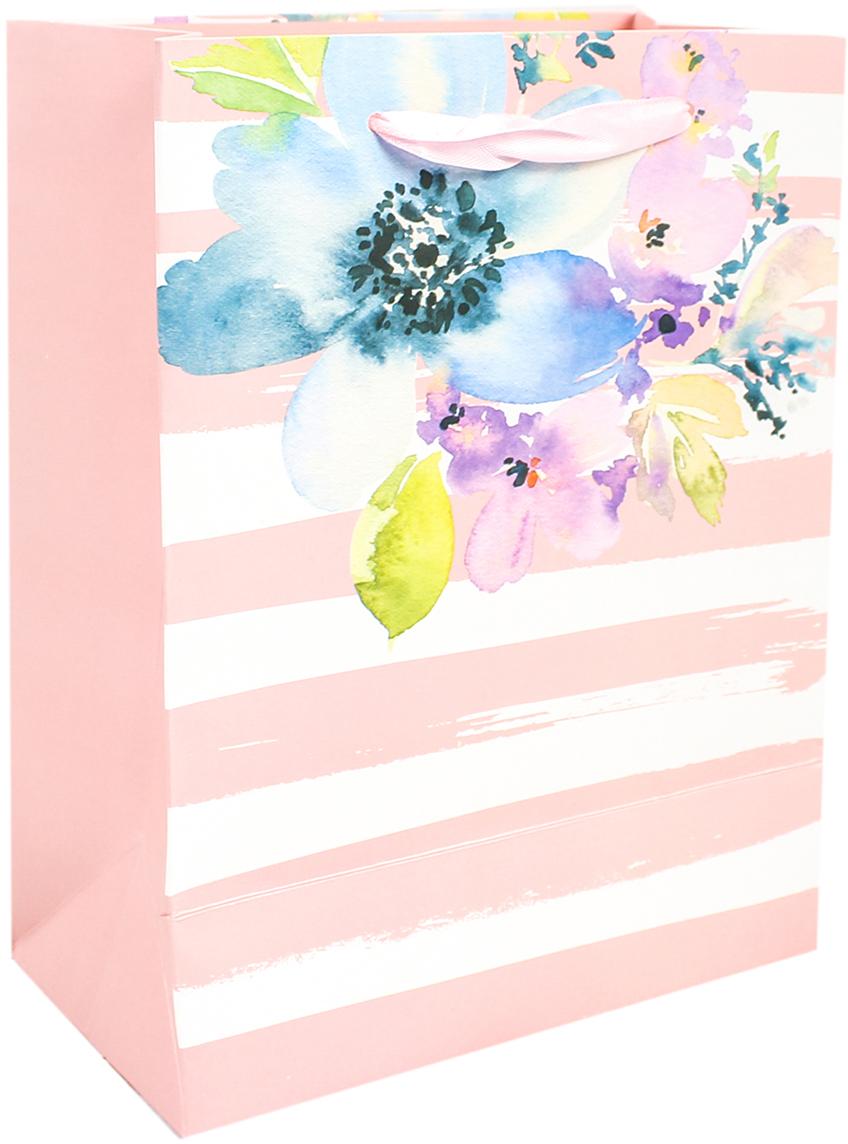 Пакет подарочный Люкс. Цветы, цвет: розовый, 18 х 24 х 8 см. 26710922671092Любой подарок начинается с упаковки. Что может быть трогательнее и волшебнее, чем ритуал разворачивания полученного презента. И именно оригинальная, со вкусом выбранная упаковка выделит ваш подарок из массы других. Она продемонстрирует самые теплые чувства к виновнику торжества и создаст сказочную атмосферу праздника. Пакет подарочный Цветы, люкс - это то, что вы искали.