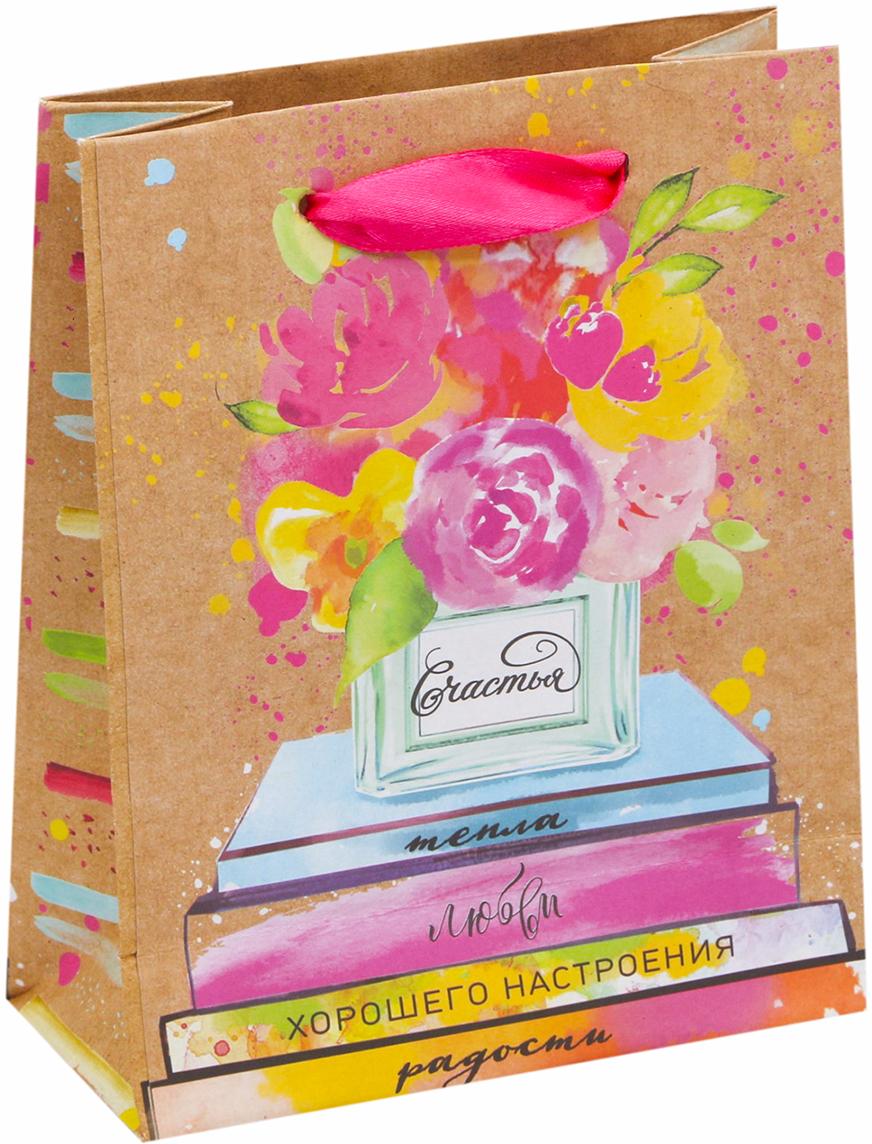 Пакет подарочный Дарите Счастье Хорошего настроения!, цвет: бежевый, 23 х 8 х 27 см. 26788152678815Любой подарок начинается с упаковки. Что может быть трогательнее и волшебнее, чем ритуал разворачивания полученного презента. И именно оригинальная, со вкусом выбранная упаковка выделит ваш подарок из массы других. Она продемонстрирует самые теплые чувства к виновнику торжества и создаст сказочную атмосферу праздника - это то, что вы искали.