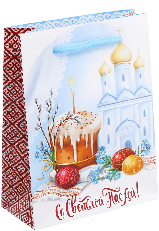 Пакет подарочный Дарите Счастье Со Светлой Пасхой!, цвет: мультиколор, 11 х 5 х 14 см. 26788362678836Любой подарок начинается с упаковки. Что может быть трогательнее и волшебнее, чем ритуал разворачивания полученного презента. И именно оригинальная, со вкусом выбранная упаковка выделит ваш подарок из массы других. Она продемонстрирует самые теплые чувства к виновнику торжества и создаст сказочную атмосферу праздника.