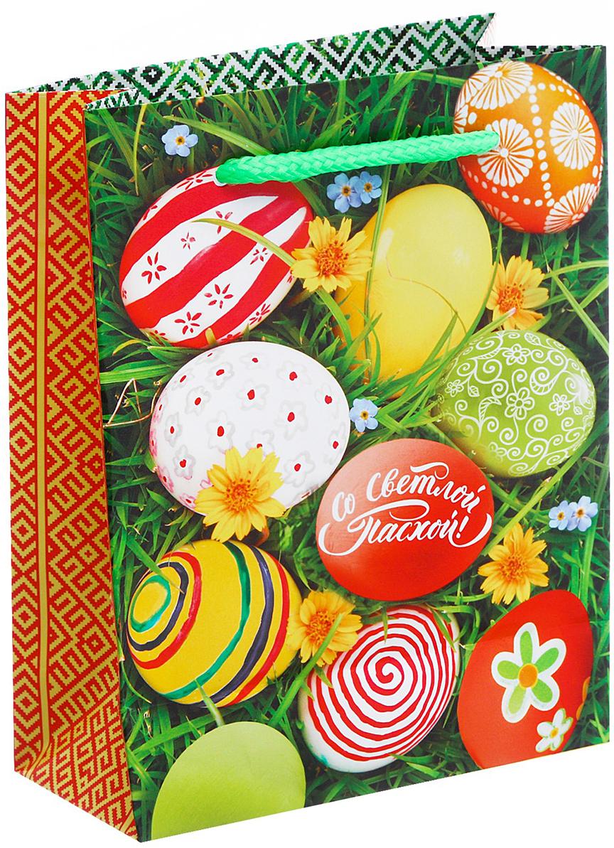 Пакет подарочный Дарите Счастье Со Светлим Праздником Пасхи!, цвет: мультиколор, 18 х 8 х 23 см. 26788412678841Любой подарок начинается с упаковки. Что может быть трогательнее и волшебнее, чем ритуал разворачивания полученного презента. И именно оригинальная, со вкусом выбранная упаковка выделит ваш подарок из массы других. Она продемонстрирует самые теплые чувства к виновнику торжества и создаст сказочную атмосферу праздника - это то, что вы искали. Невозможно представить нашу жизнь без праздников! Мы всегда ждем их и предвкушаем, обдумываем, как проведем памятный день, тщательно выбираем подарки и аксессуары, ведь именно они создают и поддерживают торжественный настрой - это отличный выбор, который привнесет атмосферу праздника в ваш дом!