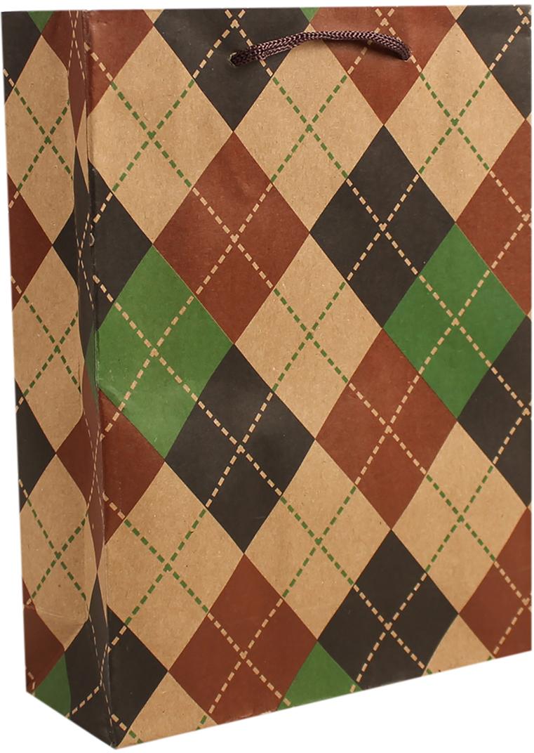 Пакет подарочный Ромбики, цвет: мультиколор, 31 х 9,5 х 42 см. 26872612687261Любой подарок начинается с упаковки. Что может быть трогательнее и волшебнее, чем ритуал разворачивания полученного презента. И именно оригинальная, со вкусом выбранная упаковка выделит ваш подарок из массы других. Она продемонстрирует самые теплые чувства к виновнику торжества и создаст сказочную атмосферу праздника. Пакет-крафт Ромбики - это то, что вы искали.