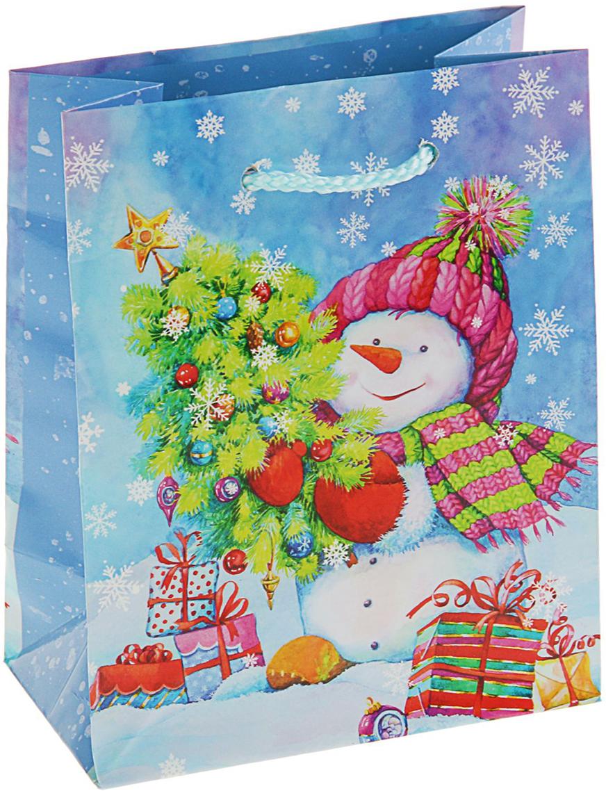 Пакет подарочный Арт и Дизайн Снеговик Джо, цвет: мультиколор, 14,5 х 11,5 х 6,5 см. 27267342726734Невозможно представить нашу жизнь без праздников! Мы всегда ждем их и предвкушаем, обдумываем, как проведем памятный день, тщательно выбираем подарки и аксессуары, ведь именно они создают и поддерживают торжественный настрой - это отличный выбор, который привнесет атмосферу праздника в ваш дом!Любой подарок начинается с упаковки. Что может быть трогательнее и волшебнее, чем ритуал разворачивания полученного презента. И именно оригинальная, со вкусом выбранная упаковка выделит ваш подарок из массы других. Она продемонстрирует самые теплые чувства к виновнику торжества и создаст сказочную атмосферу праздника - это то, что вы искали.