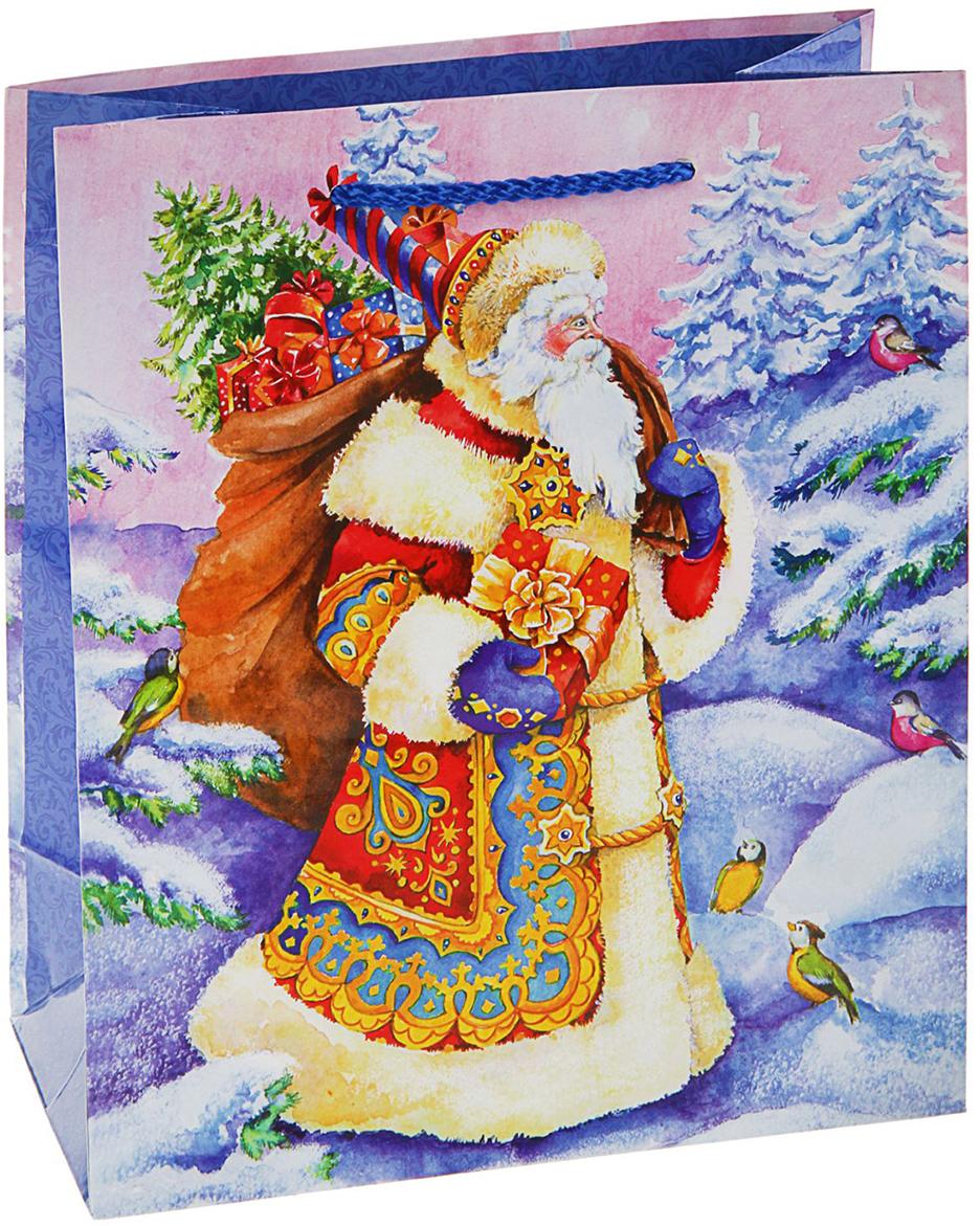 Пакет подарочный Арт и Дизайн Подарки Деда Мороза, цвет: мультиколор, 24 х 20 х 10,2 см. 27267502726750Невозможно представить нашу жизнь без праздников! Мы всегда ждем их и предвкушаем, обдумываем, как проведем памятный день, тщательно выбираем подарки и аксессуары, ведь именно они создают и поддерживают торжественный настрой - это отличный выбор, который привнесет атмосферу праздника в ваш дом!Любой подарок начинается с упаковки. Что может быть трогательнее и волшебнее, чем ритуал разворачивания полученного презента. И именно оригинальная, со вкусом выбранная упаковка выделит ваш подарок из массы других. Она продемонстрирует самые теплые чувства к виновнику торжества и создаст сказочную атмосферу праздника - это то, что вы искали.