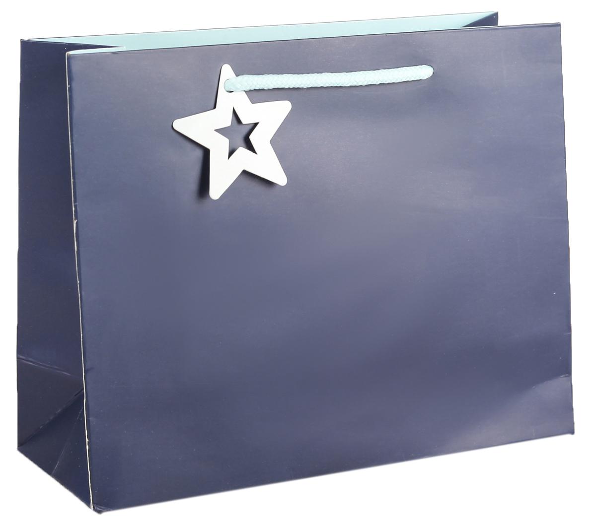 Пакет подарочный, цвет: синий, 14 х 15 х 7 см. 27496692749669Любой подарок начинается с упаковки. Что может быть трогательнее и волшебнее, чем ритуал разворачивания полученного презента. И именно оригинальная, со вкусом выбранная упаковка выделит ваш подарок из массы других. Она продемонстрирует самые теплые чувства к виновнику торжества и создаст сказочную атмосферу праздника. Пакет подарочный - это то, что вы искали.