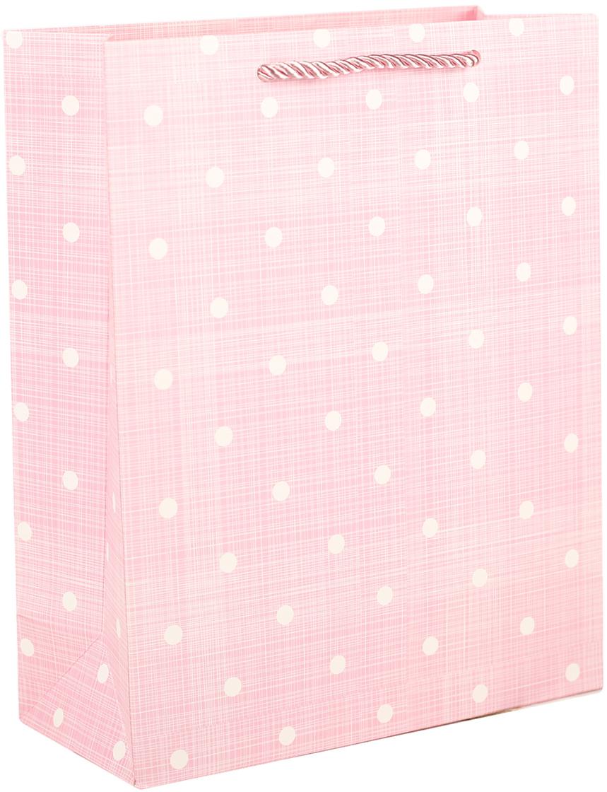 Пакет подарочный Люкс. Горошек, цвет: розовый, 20,5 х 25,5 х 9 см. 27497162749716Любой подарок начинается с упаковки. Что может быть трогательнее и волшебнее, чем ритуал разворачивания полученного презента. И именно оригинальная, со вкусом выбранная упаковка выделит ваш подарок из массы других. Она продемонстрирует самые теплые чувства к виновнику торжества и создаст сказочную атмосферу праздника. Пакет подарочный Горошек, люкс - это то, что вы искали.