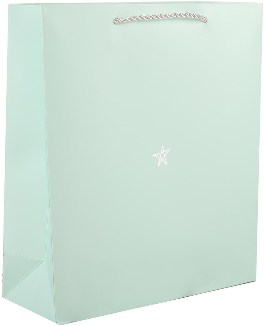 Пакет подарочный Люкс. Звезда, цвет: бирюзовый, 27 х 31,5 х 11 см. 2749763 звезда подарочный набор авианосец адмирал кузнецов звезда