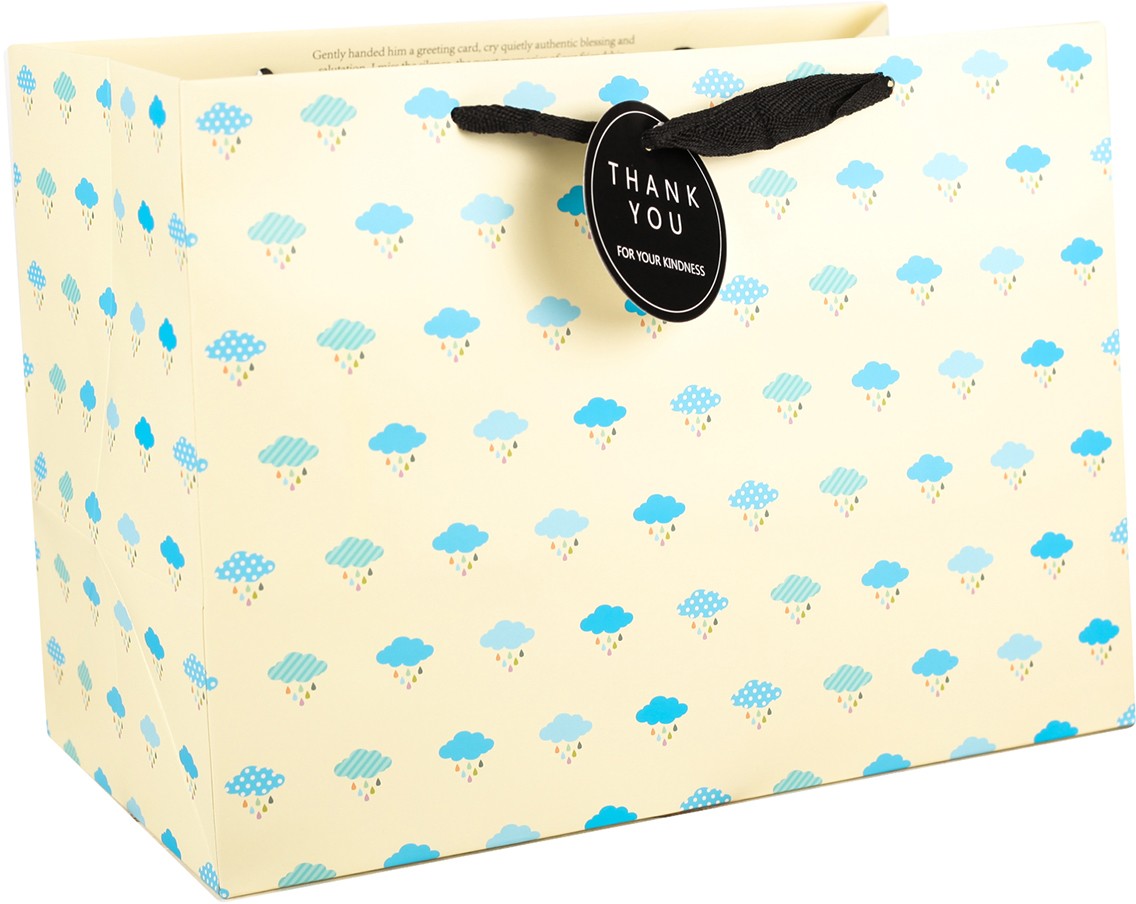 Пакет подарочный Облака, цвет: бежевый, 34 х 24,5 х 18 см. 27497722749772Любой подарок начинается с упаковки. Что может быть трогательнее и волшебнее, чем ритуал разворачивания полученного презента. И именно оригинальная, со вкусом выбранная упаковка выделит ваш подарок из массы других. Она продемонстрирует самые теплые чувства к виновнику торжества и создаст сказочную атмосферу праздника. Пакет подарочный Облака - это то, что вы искали.