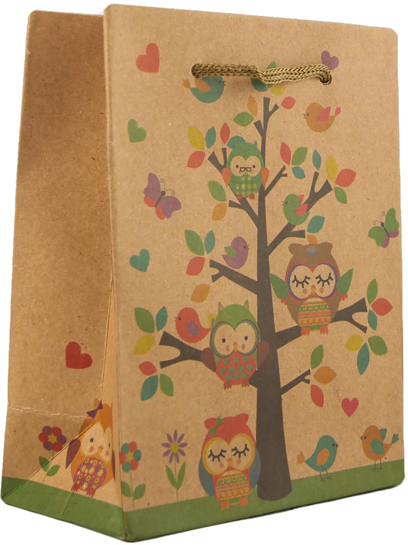 Пакет подарочный Птицы, цвет: мультиколор, 11,5 х 14,5 х 6 см. 27909162790916Любой подарок начинается с упаковки. Что может быть трогательнее и волшебнее, чем ритуал разворачивания полученного презента. И именно оригинальная, со вкусом выбранная упаковка выделит ваш подарок из массы других. Она продемонстрирует самые теплые чувства к виновнику торжества и создаст сказочную атмосферу праздника. Пакет-крафт Птицы - это то, что вы искали.