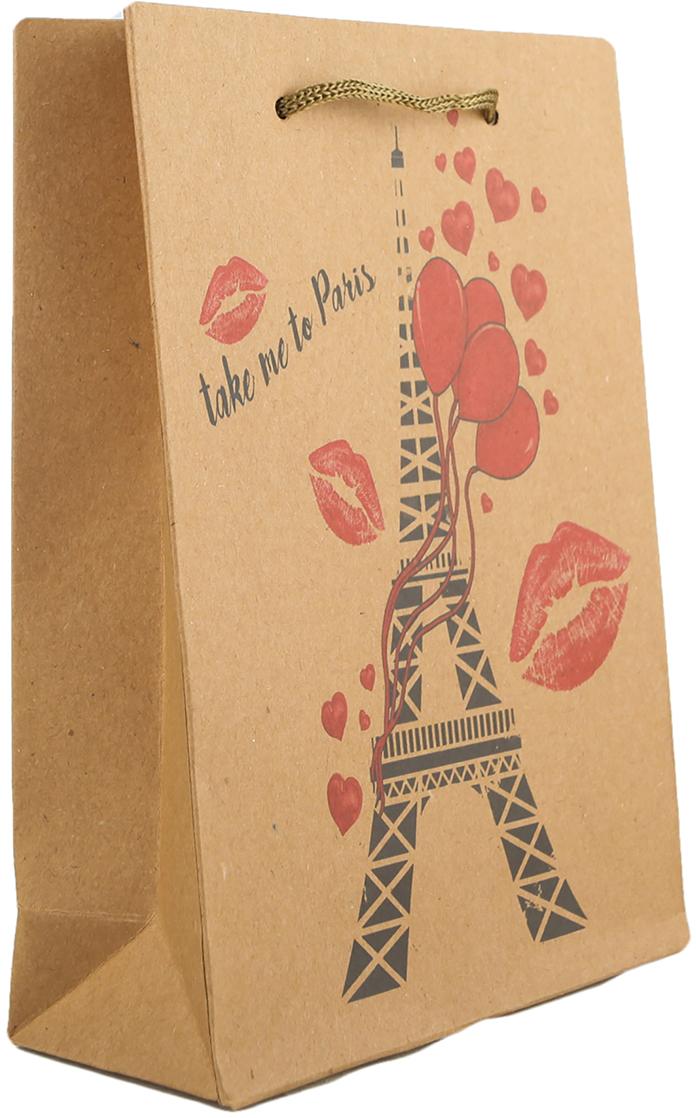 Пакет подарочный Романтический Париж, цвет: мультиколор, 15 х 20 х 6 см. 27909202790920Любой подарок начинается с упаковки. Что может быть трогательнее и волшебнее, чем ритуал разворачивания полученного презента. И именно оригинальная, со вкусом выбранная упаковка выделит ваш подарок из массы других. Она продемонстрирует самые теплые чувства к виновнику торжества и создаст сказочную атмосферу праздника. Пакет-крафт Романтический Париж - это то, что вы искали.