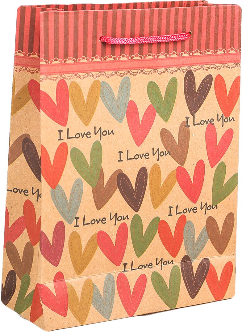 Пакет подарочный Сердечки, цвет: мультиколор, 15 х 20 х 6 см. 27909232790923Любой подарок начинается с упаковки. Что может быть трогательнее и волшебнее, чем ритуал разворачивания полученного презента. И именно оригинальная, со вкусом выбранная упаковка выделит ваш подарок из массы других. Она продемонстрирует самые теплые чувства к виновнику торжества и создаст сказочную атмосферу праздника. Пакет-крафт Сердечки - это то, что вы искали.