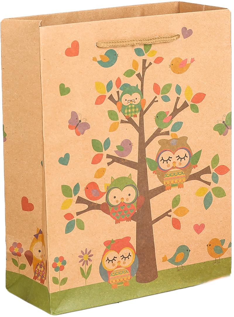 Пакет подарочный Птицы, цвет: мультиколор, 15 х 20 х 6 см. 27909262790926Любой подарок начинается с упаковки. Что может быть трогательнее и волшебнее, чем ритуал разворачивания полученного презента. И именно оригинальная, со вкусом выбранная упаковка выделит ваш подарок из массы других. Она продемонстрирует самые теплые чувства к виновнику торжества и создаст сказочную атмосферу праздника. Пакет-крафт Птицы - это то, что вы искали.
