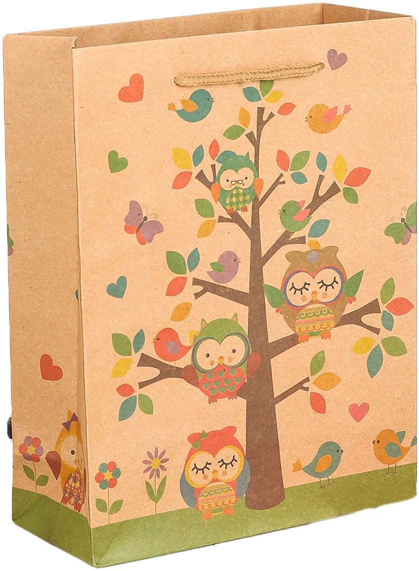 Пакет подарочный Птицы, цвет: мультиколор, 31 х 10 х 42 см. 27909562790956Любой подарок начинается с упаковки. Что может быть трогательнее и волшебнее, чем ритуал разворачивания полученного презента. И именно оригинальная, со вкусом выбранная упаковка выделит ваш подарок из массы других. Она продемонстрирует самые теплые чувства к виновнику торжества и создаст сказочную атмосферу праздника. Пакет-крафт Птицы - это то, что вы искали.