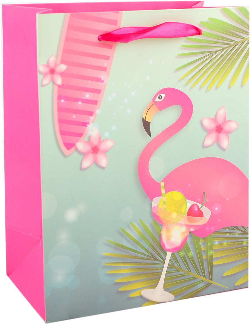 """Любой подарок начинается с упаковки. Что может быть трогательнее и волшебнее, чем ритуал разворачивания полученного презента. И именно оригинальная, со вкусом выбранная упаковка выделит ваш подарок из массы других. Она продемонстрирует самые теплые чувства к виновнику торжества и создаст сказочную атмосферу праздника. Пакет подарочный """"Фламинго"""" - это то, что вы искали."""