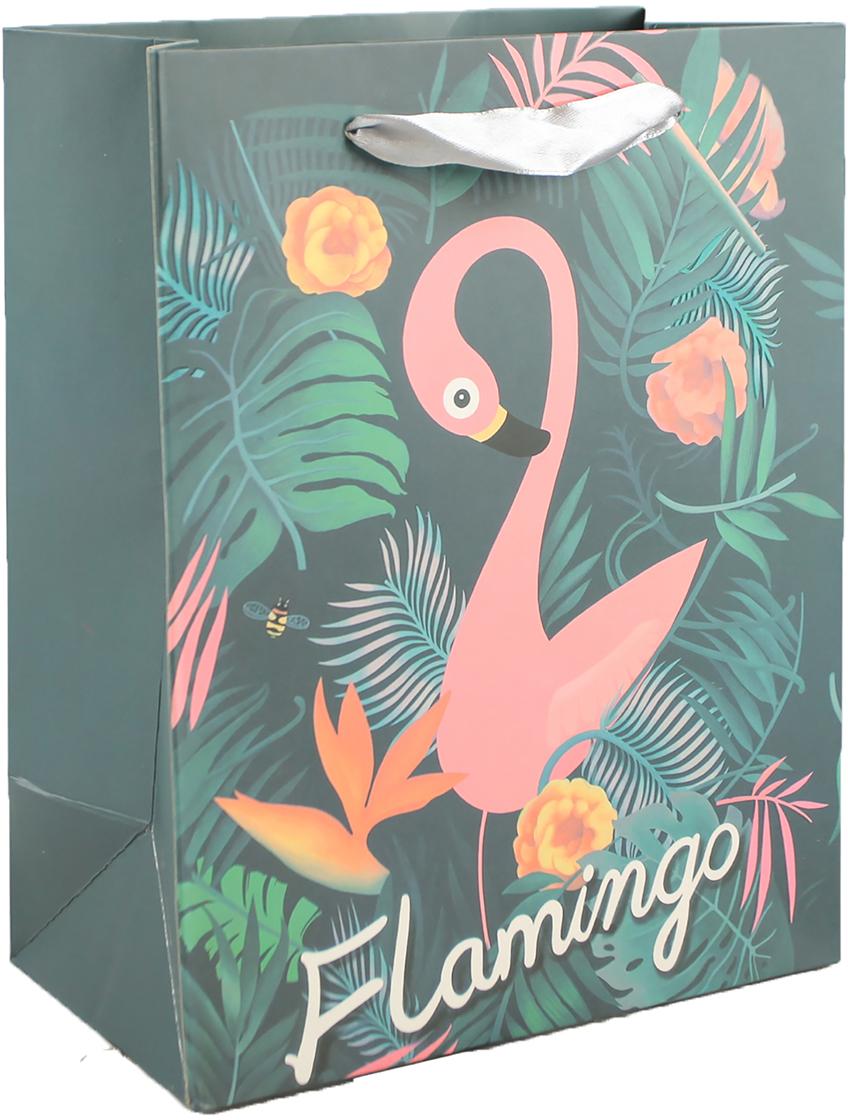Пакет подарочный Фламинго, цвет: зеленый, 30 х 42 х 12 см. 27910452791045Любой подарок начинается с упаковки. Что может быть трогательнее и волшебнее, чем ритуал разворачивания полученного презента. И именно оригинальная, со вкусом выбранная упаковка выделит ваш подарок из массы других. Она продемонстрирует самые теплые чувства к виновнику торжества и создаст сказочную атмосферу праздника. Пакет подарочный Фламинго - это то, что вы искали.
