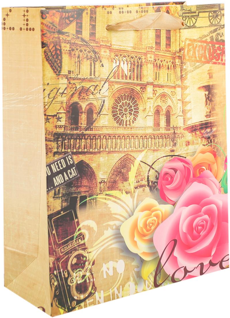 Пакет подарочный Путешествие, цвет: коричневый, 30 х 42 х 12 см. 27910502791050Любой подарок начинается с упаковки. Что может быть трогательнее и волшебнее, чем ритуал разворачивания полученного презента. И именно оригинальная, со вкусом выбранная упаковка выделит ваш подарок из массы других. Она продемонстрирует самые теплые чувства к виновнику торжества и создаст сказочную атмосферу праздника. Пакет подарочный Путешествие - это то, что вы искали.