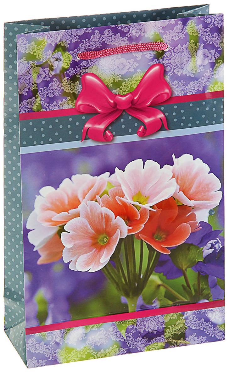 Пакет подарочный Цветочный рай, цвет: мультиколор, 16,5 х 7 х 26,5 см. 27929922792992Любой подарок начинается с упаковки. Что может быть трогательнее и волшебнее, чем ритуал разворачивания полученного презента. И именно оригинальная, со вкусом выбранная упаковка выделит ваш подарок из массы других. Она продемонстрирует самые теплые чувства к виновнику торжества и создаст сказочную атмосферу праздника. Пакет подарочный Цветочный рай - это то, что вы искали.