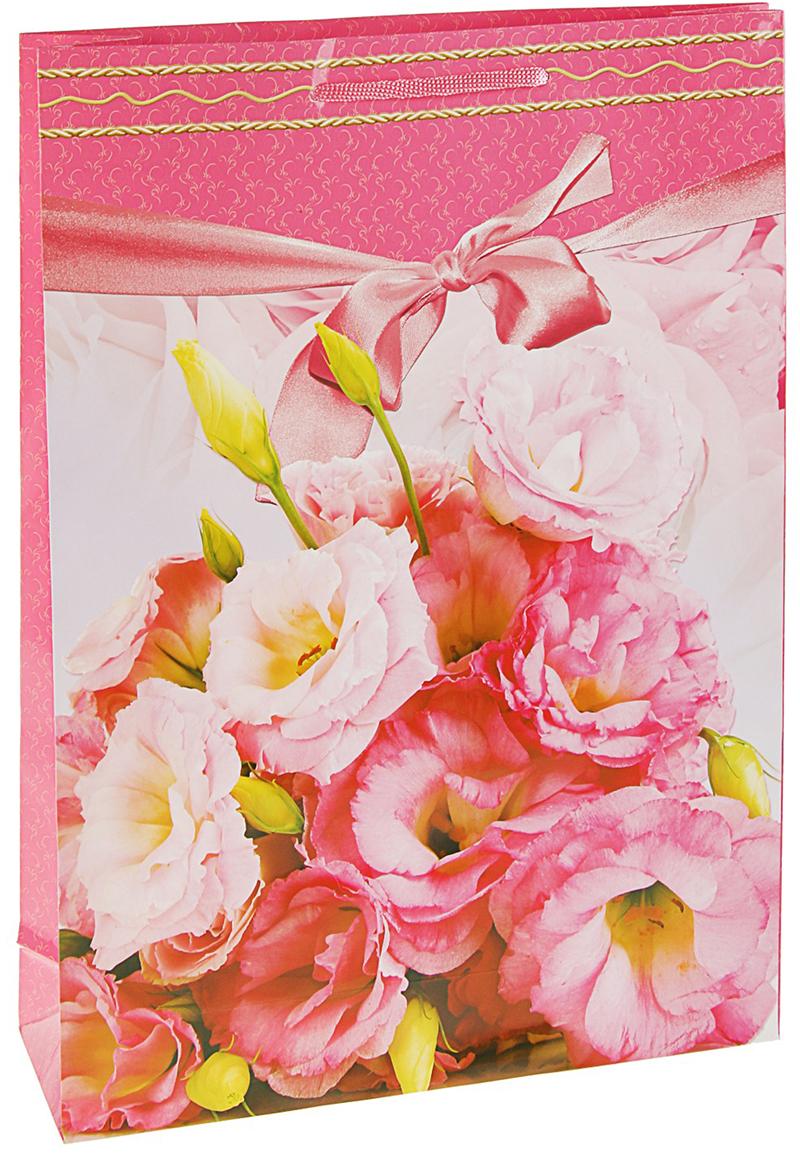 Пакет подарочный Нежный розовый, цвет: мультиколор, 33 х 10 х 47 см. 27930192793019Любой подарок начинается с упаковки. Что может быть трогательнее и волшебнее, чем ритуал разворачивания полученного презента. И именно оригинальная, со вкусом выбранная упаковка выделит ваш подарок из массы других. Она продемонстрирует самые теплые чувства к виновнику торжества и создаст сказочную атмосферу праздника. Пакет подарочный Нежный розовый - это то, что вы искали.