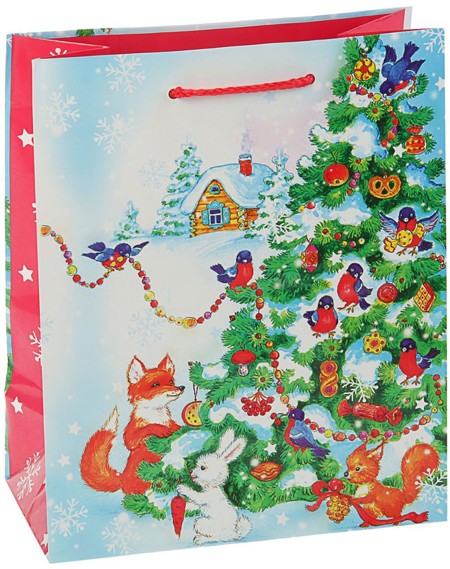 Пакет подарочный Арт и Дизайн Ёлочка, цвет: мультиколор, 24 х 20 х 10,2 см. 27988442798844Любой подарок начинается с упаковки. Что может быть трогательнее и волшебнее, чем ритуал разворачивания полученного презента. И именно оригинальная, со вкусом выбранная упаковка выделит ваш подарок из массы других. Она продемонстрирует самые теплые чувства к виновнику торжества и создаст сказочную атмосферу праздника - это то, что вы искали. Невозможно представить нашу жизнь без праздников! Мы всегда ждем их и предвкушаем, обдумываем, как проведем памятный день, тщательно выбираем подарки и аксессуары, ведь именно они создают и поддерживают торжественный настрой - это отличный выбор, который привнесет атмосферу праздника в ваш дом!