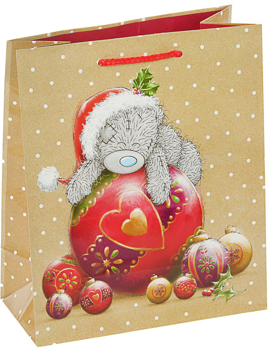 Пакет подарочный Me to You Мишутка, цвет: мультиколор, 24 х 20 х 10,2 см. 27988512798851Любой подарок начинается с упаковки. Что может быть трогательнее и волшебнее, чем ритуал разворачивания полученного презента. И именно оригинальная, со вкусом выбранная упаковка выделит ваш подарок из массы других. Она продемонстрирует самые теплые чувства к виновнику торжества и создаст сказочную атмосферу праздника - это то, что вы искали. Невозможно представить нашу жизнь без праздников! Мы всегда ждем их и предвкушаем, обдумываем, как проведем памятный день, тщательно выбираем подарки и аксессуары, ведь именно они создают и поддерживают торжественный настрой - это отличный выбор, который привнесет атмосферу праздника в ваш дом!
