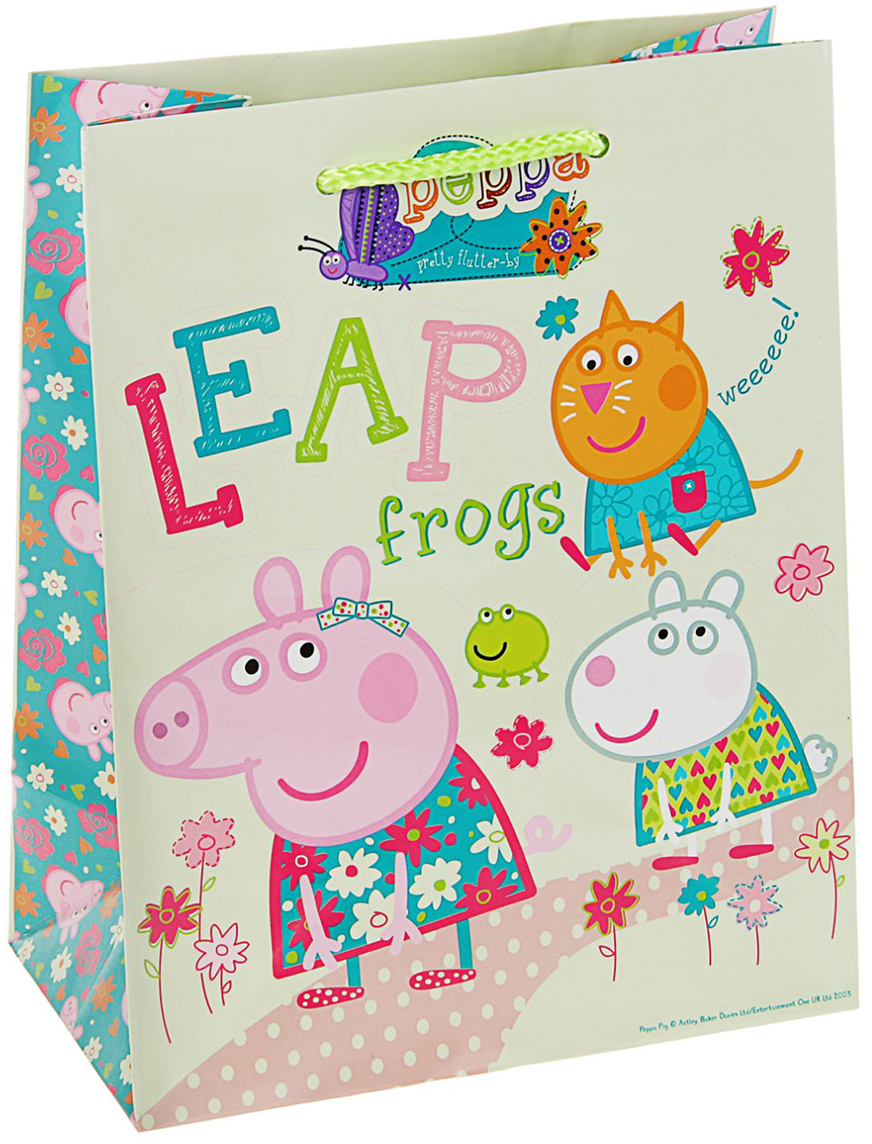 Пакет подарочный Peppa Pig Весна Пеппы, цвет: мультиколор, 23 х 18 х 10 см. 2811423 peppa pig пакет подарочный пеппа и сьюзи 35 х 25 х 9 см