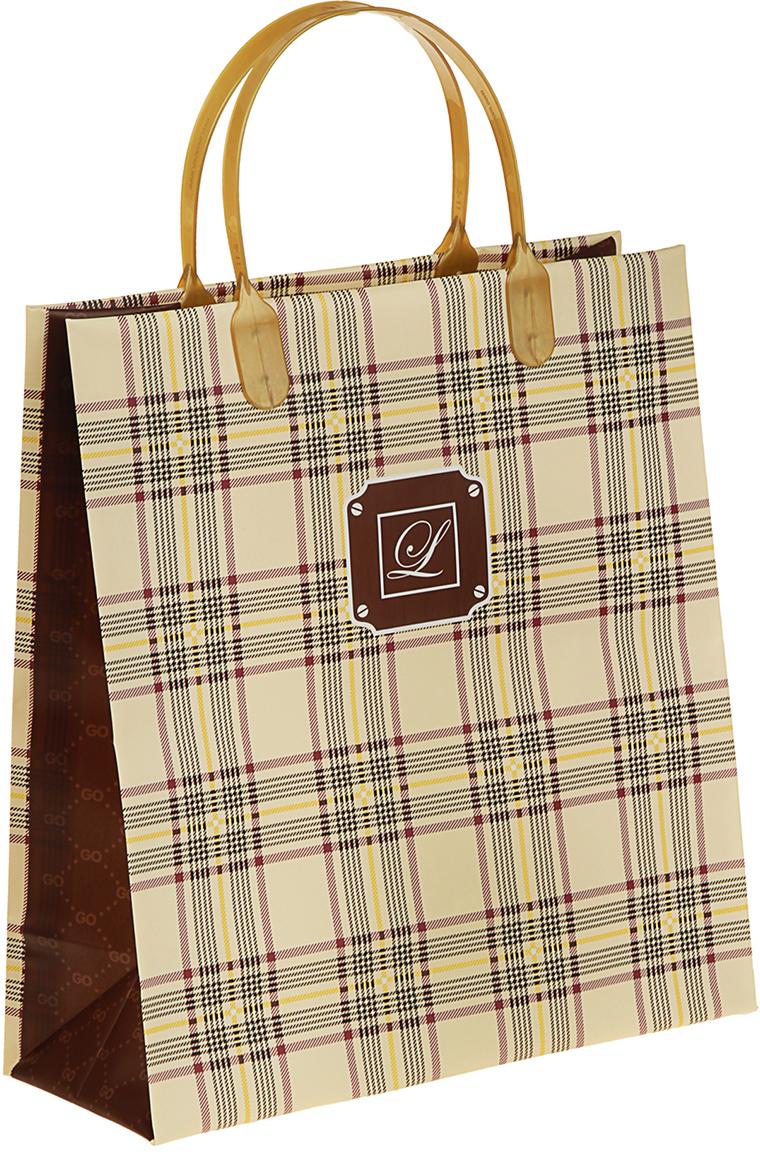 Пакет подарочный Линии, цвет: коричневый, 23 х 10 х 26 см. 29802292980229Любой подарок начинается с упаковки. Что может быть трогательнее и волшебнее, чем ритуал разворачивания полученного презента. И именно оригинальная, со вкусом выбранная упаковка выделит ваш подарок из массы других. Она продемонстрирует самые теплые чувства к виновнику торжества и создаст сказочную атмосферу праздника. Пакет Линии, мягкий пластик, объемный - это то, что вы искали.