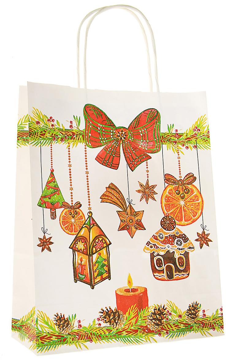 Пакет подарочный Корица, цвет: мультиколор, 25 х 11 х 32 см. 30437413043741Любой подарок начинается с упаковки. Что может быть трогательнее и волшебнее, чем ритуал разворачивания полученного презента. И именно оригинальная, со вкусом выбранная упаковка выделит ваш подарок из массы других. Она продемонстрирует самые теплые чувства к виновнику торжества и создаст сказочную атмосферу праздника - это то, что вы искали. Невозможно представить нашу жизнь без праздников! Мы всегда ждем их и предвкушаем, обдумываем, как проведем памятный день, тщательно выбираем подарки и аксессуары, ведь именно они создают и поддерживают торжественный настрой - это отличный выбор, который привнесет атмосферу праздника в ваш дом!