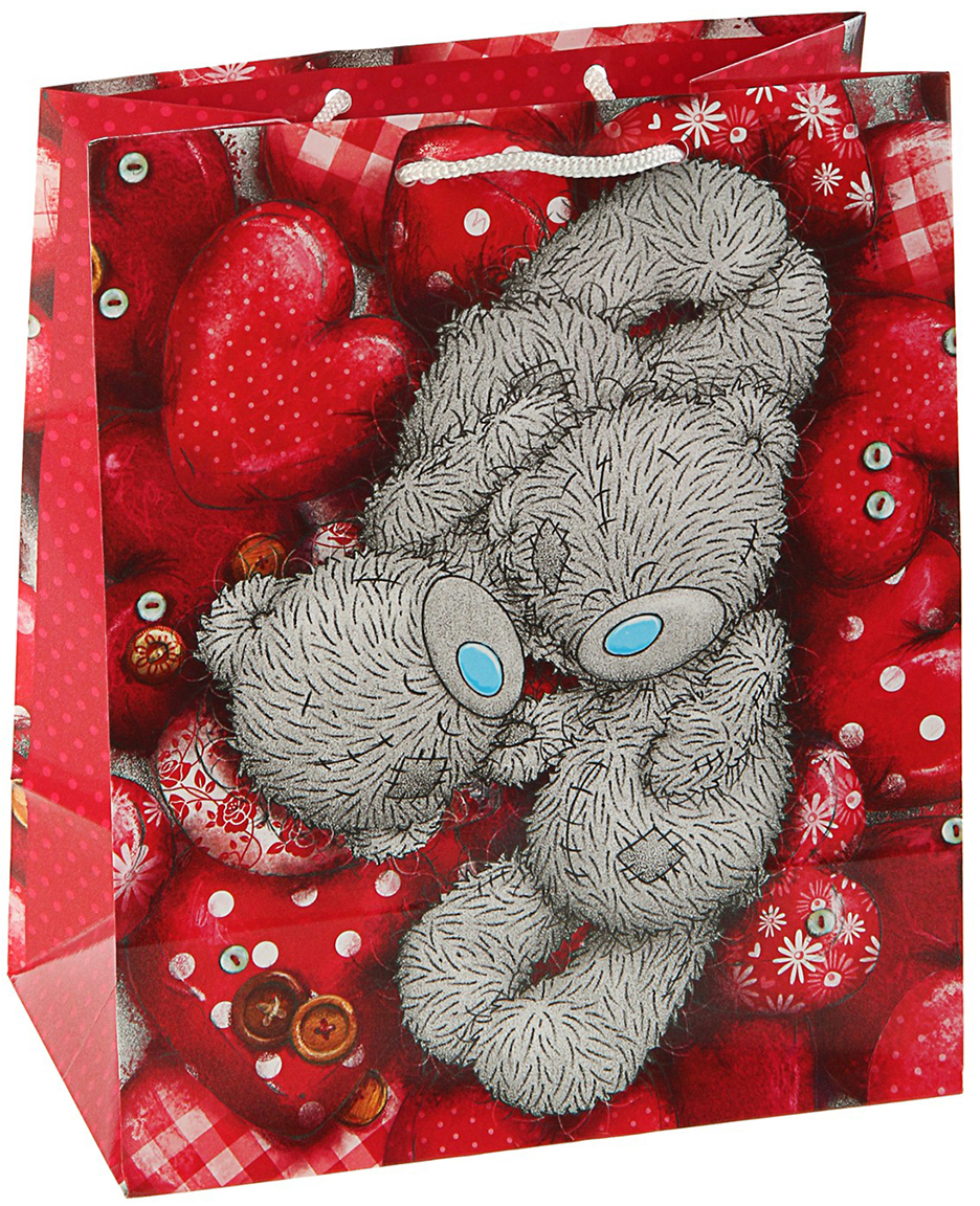 Пакет подарочный Me to You Тебе, цвет: мультиколор, 14,5 х 11,5 х 6,5 см. 3092179 футболка для беременных printio мишка me to you