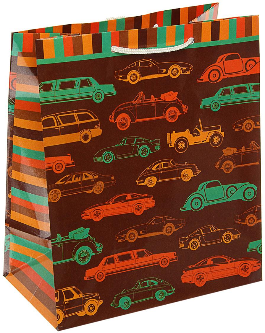 Пакет подарочный Арт и Дизайн Форсаж, цвет: мультиколор, 24 х 20,3 х 11,5 см. 3092187 пакет подарочный арт и дизайн вояж цвет мультиколор 36 х 26 х 11 5 см 3092217