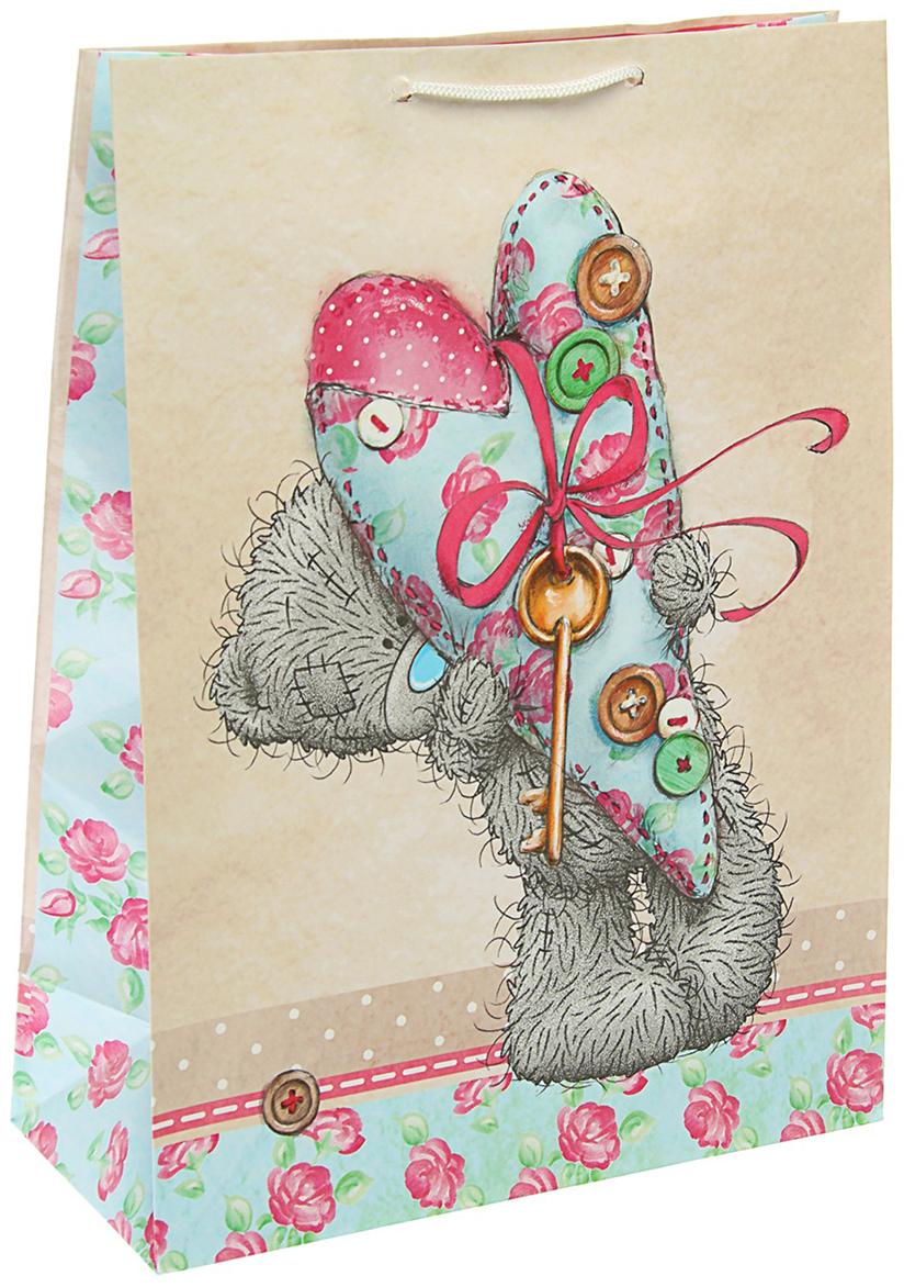 Пакет подарочный Me to You Любовь, цвет: мультиколор, 36 х 26 х 11,5 см. 3092220 футболка для беременных printio мишка me to you