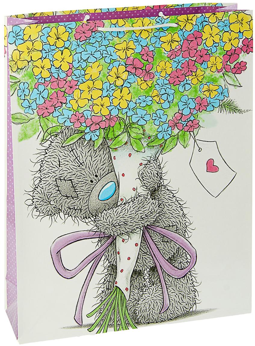 Пакет подарочный Me to You Самой любимой, цвет: мультиколор, 36 х 26 х 11,5 см. 3092222 футболка для беременных printio мишка me to you