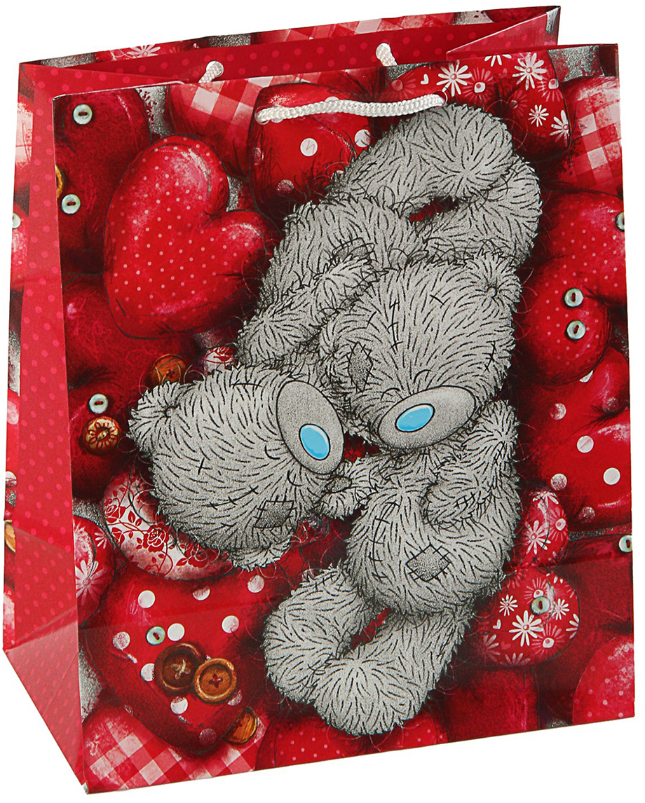 Пакет подарочный Me to You Тебе, цвет: мультиколор, 42,5 х 33 х 10 см. 3092244 футболка для беременных printio мишка me to you