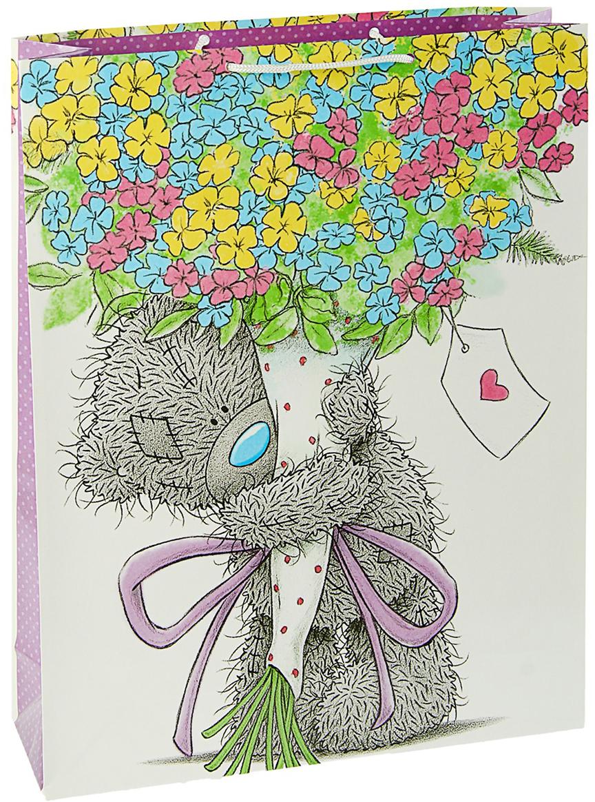 Пакет подарочный Me to You Самой любимой, цвет: мультиколор, 42,5 х 33 х 10 см. 3092247 футболка для беременных printio мишка me to you