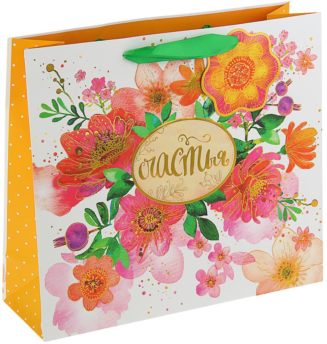 Пакет подарочный Арт и Дизайн Люкс. Нежные чувства, цвет: мультиколор, 32 х 36 х 12 см. 30922563092256Любой подарок начинается с упаковки. Что может быть трогательнее и волшебнее, чем ритуал разворачивания полученного презента. И именно оригинальная, со вкусом выбранная упаковка выделит ваш подарок из массы других. Она продемонстрирует самые теплые чувства к виновнику торжества и создаст сказочную атмосферу праздника. Пакет подарочный Нежные чувства люкс - это то, что вы искали.