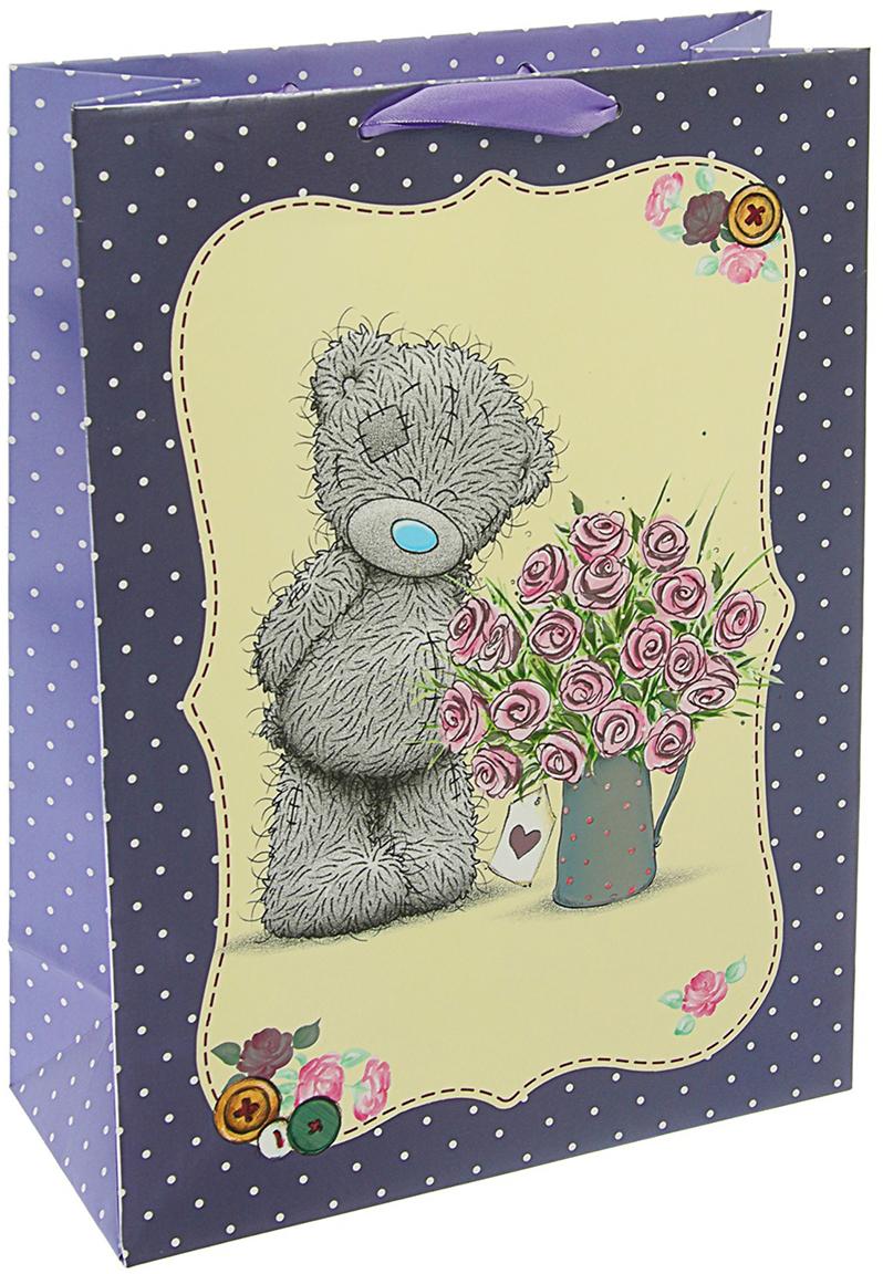 Пакет подарочный Me to You Люкс. Люблю, цвет: мультиколор, 32 х 26 х 12 см. 3092272 футболка для беременных printio мишка me to you