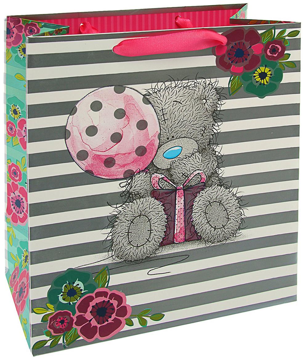 Пакет подарочный Me to You Люкс. Тэдди, цвет: мультиколор, 24 х 20 х 10,2 см. 3092286 футболка для беременных printio мишка me to you