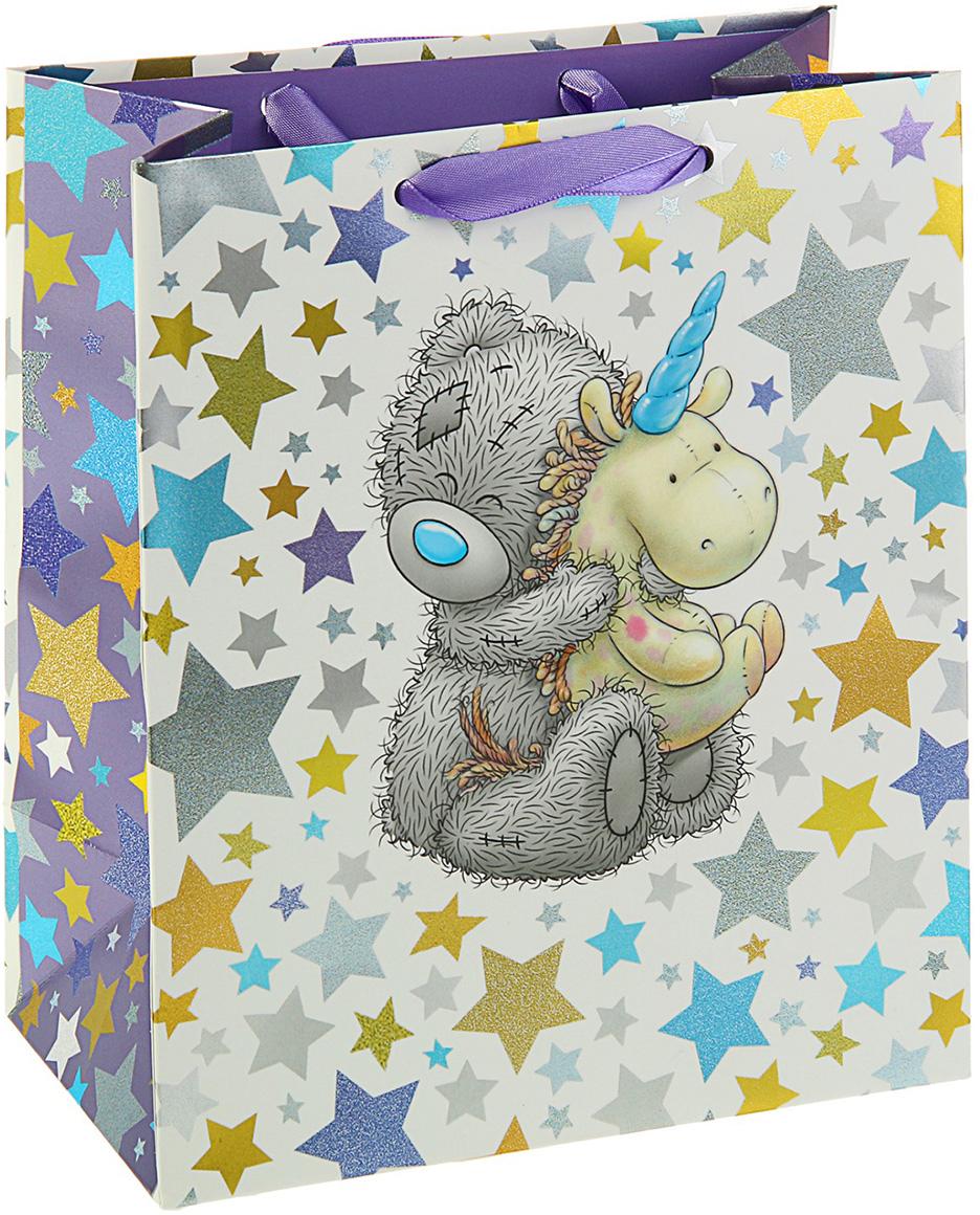 Пакет подарочный Me to You Люкс. Мишка, цвет: мультиколор, 24 х 20 х 10,2 см. 3092287 футболка для беременных printio мишка me to you