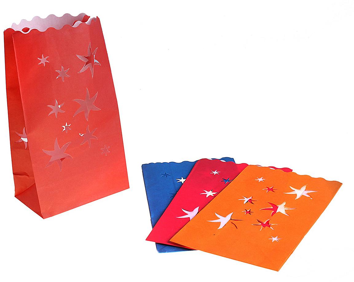 Пакет подарочный Светящийся пакет, светящийся, цвет: мультиколор, 15,5 х 26,5 см. 324314324314Данное изделие представляет собой бумажный пакет без ручек, обработанный специальной огнеупорной пропиткой. Секрет в том, что свой истинный эффект Огненный Бумажный Пакет приобретает после того, как на его дно опускается свеча. При заглушенном свете, например, при создании интимной и праздничной обстановки, бумажный пакет подсвечивается изнутри. Получается потрясающий эффект!