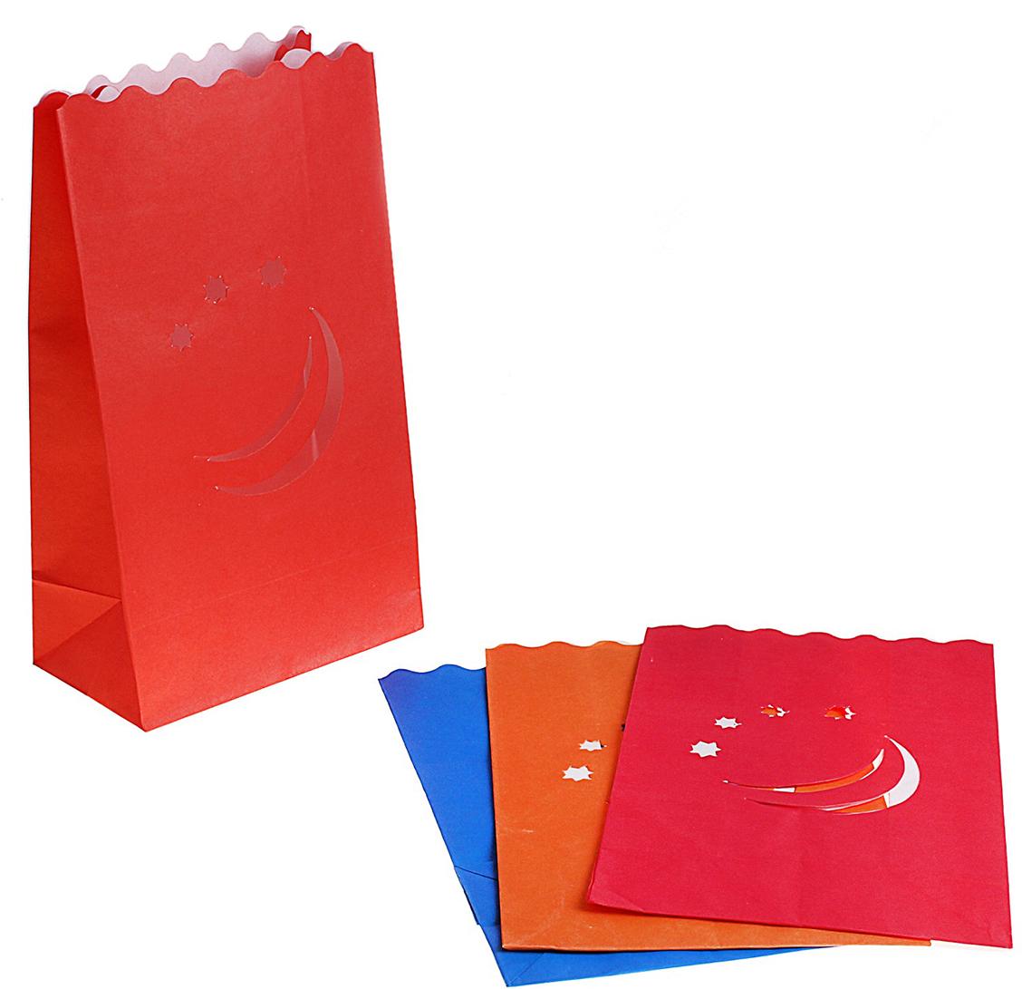 Пакет подарочный Ночь, светящийся, цвет: мультиколор, 15,3 х 26,5 см. 324323324323Данное изделие представляет собой бумажный пакет без ручек, обработанный специальной огнеупорной пропиткой. Секрет в том, что свой истинный эффект Огненный Бумажный Пакет приобретает после того, как на его дно опускается свеча. При заглушенном свете, например, при создании интимной и праздничной обстановки, бумажный пакет подсвечивается изнутри. Получается потрясающий эффект!