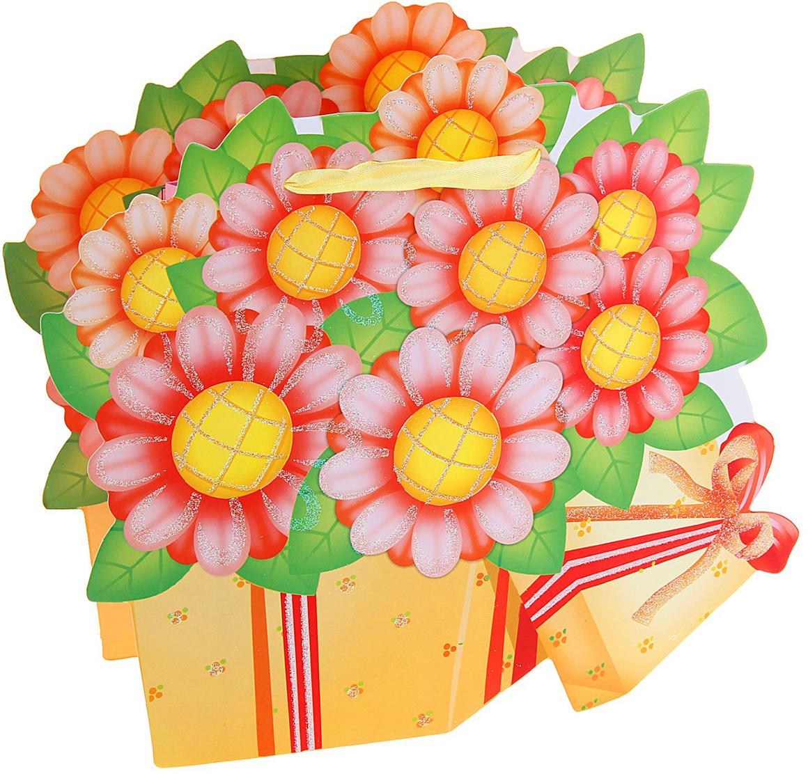 Пакет подарочный Подсолнухи, цвет: мультиколор, 8 х 27 х 27,5 см. 648972648972Любой подарок начинается с упаковки. Что может быть трогательнее и волшебнее, чем ритуал разворачивания полученного презента. И именно оригинальная, со вкусом выбранная упаковка выделит ваш подарок из массы других. Она продемонстрирует самые теплые чувства к виновнику торжества и создаст сказочную атмосферу праздника. Пакет ламинированный Подсолнухи - это то, что вы искали.