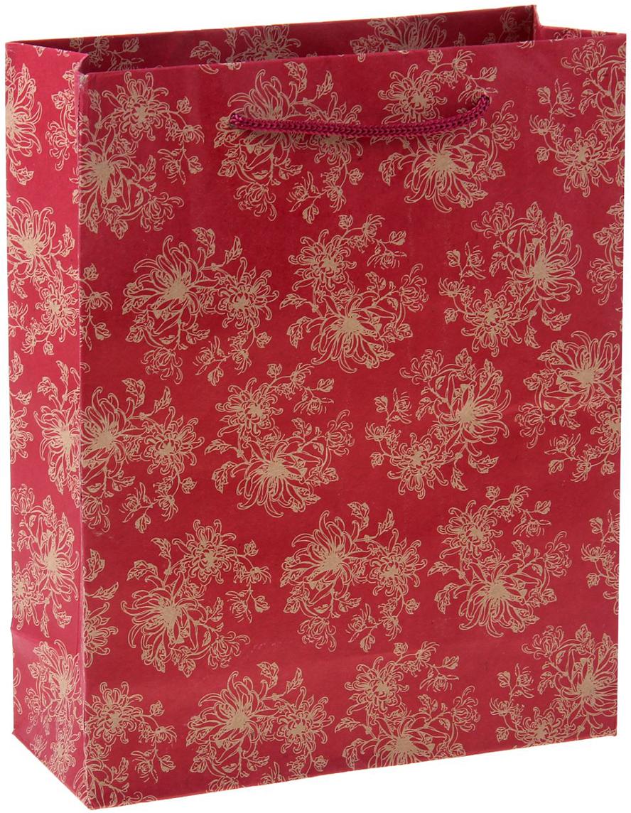 Пакет подарочный Огненный цветок, цвет: красный, 20 х 8 х 25 см. 722467722467Любой подарок начинается с упаковки. Что может быть трогательнее и волшебнее, чем ритуал разворачивания полученного презента. И именно оригинальная, со вкусом выбранная упаковка выделит ваш подарок из массы других. Она продемонстрирует самые теплые чувства к виновнику торжества и создаст сказочную атмосферу праздника. Пакет-крафт Огненный цветок - это то, что вы искали.