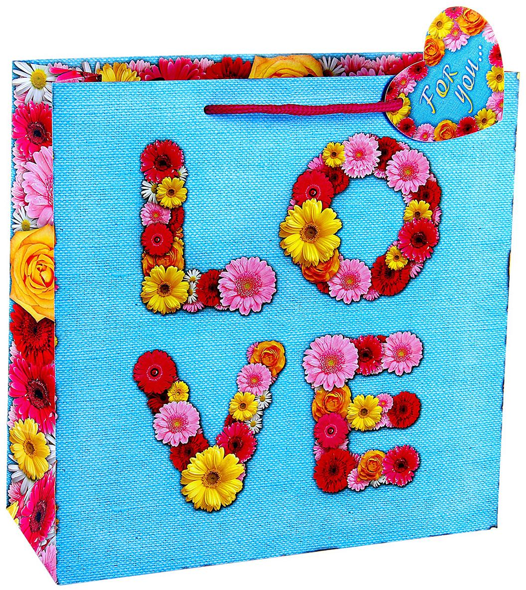 Пакет подарочный Дарите Счастье Любовь, цвет: мультиколор, 32 х 32 см. 765341765341Ламинированные бумажные пакеты - лидеры по популярности среди подарочной упаковки. Для этого есть несколько причин:Красота - ламинированные пакеты выглядят ярко и эффектно. Прочность - он способен выдержать до 10 кг. Надежность - благодаря качественной печати рисунок не сотрется и не выгорит. Широкий выбор ламинированных пакетов позволит найти упаковку для подарка для любого повода.