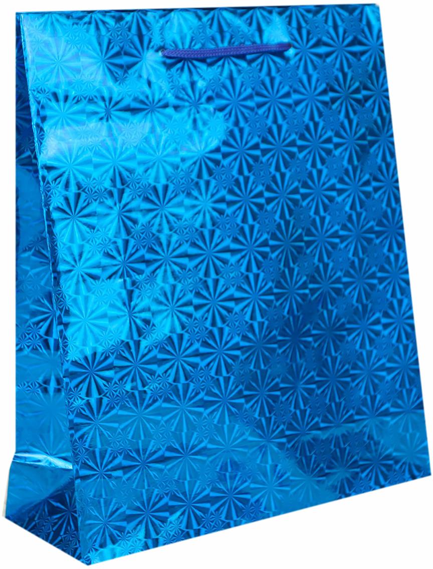 Пакет подарочный Рисунок, голографический, цвет: синий, 8 х 23 х 27 см. 822503822503Любой подарок начинается с упаковки. Что может быть трогательнее и волшебнее, чем ритуал разворачивания полученного презента. И именно оригинальная, со вкусом выбранная упаковка выделит ваш подарок из массы других. Она продемонстрирует самые теплые чувства к виновнику торжества и создаст сказочную атмосферу праздника. Пакет голографический - это то, что вы искали.