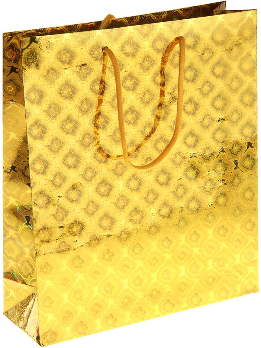 Пакет подарочный Рисунок, голографический, цвет: золотой, 23 х 8 х 27 см. 822506822506Любой подарок начинается с упаковки. Что может быть трогательнее и волшебнее, чем ритуал разворачивания полученного презента. И именно оригинальная, со вкусом выбранная упаковка выделит ваш подарок из массы других. Она продемонстрирует самые теплые чувства к виновнику торжества и создаст сказочную атмосферу праздника. Пакет голографический - это то, что вы искали.