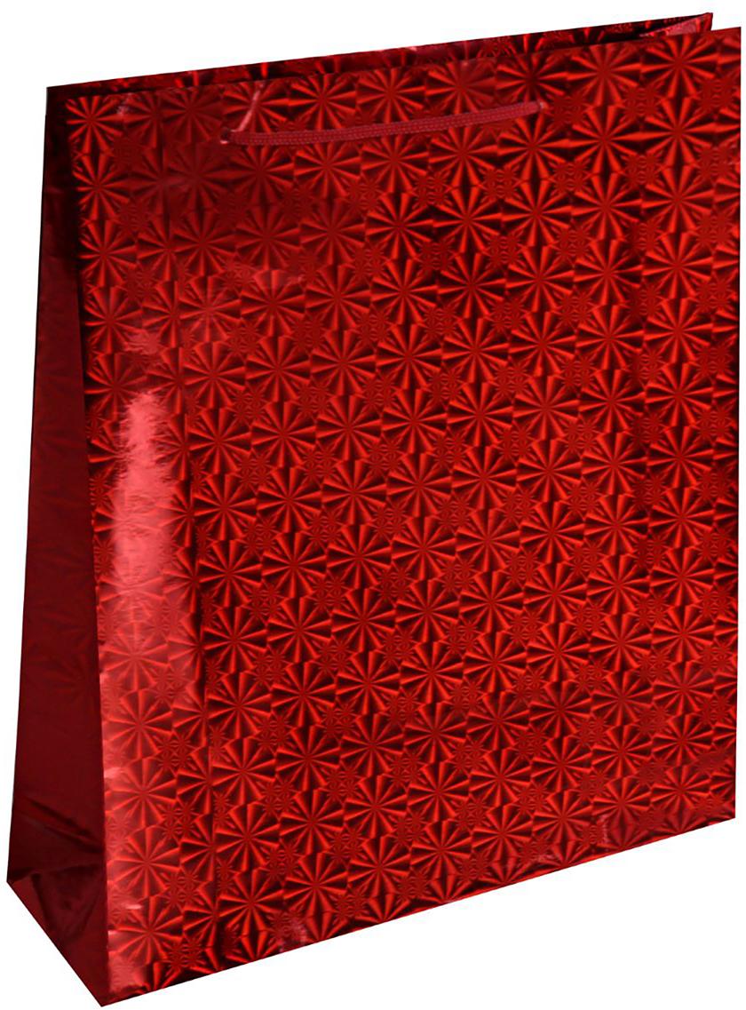 Пакет подарочный Рисунок, голографический, цвет: красный, 26 х 8 х 34 см. 822508822508Любой подарок начинается с упаковки. Что может быть трогательнее и волшебнее, чем ритуал разворачивания полученного презента. И именно оригинальная, со вкусом выбранная упаковка выделит ваш подарок из массы других. Она продемонстрирует самые теплые чувства к виновнику торжества и создаст сказочную атмосферу праздника. Пакет голографический - это то, что вы искали.