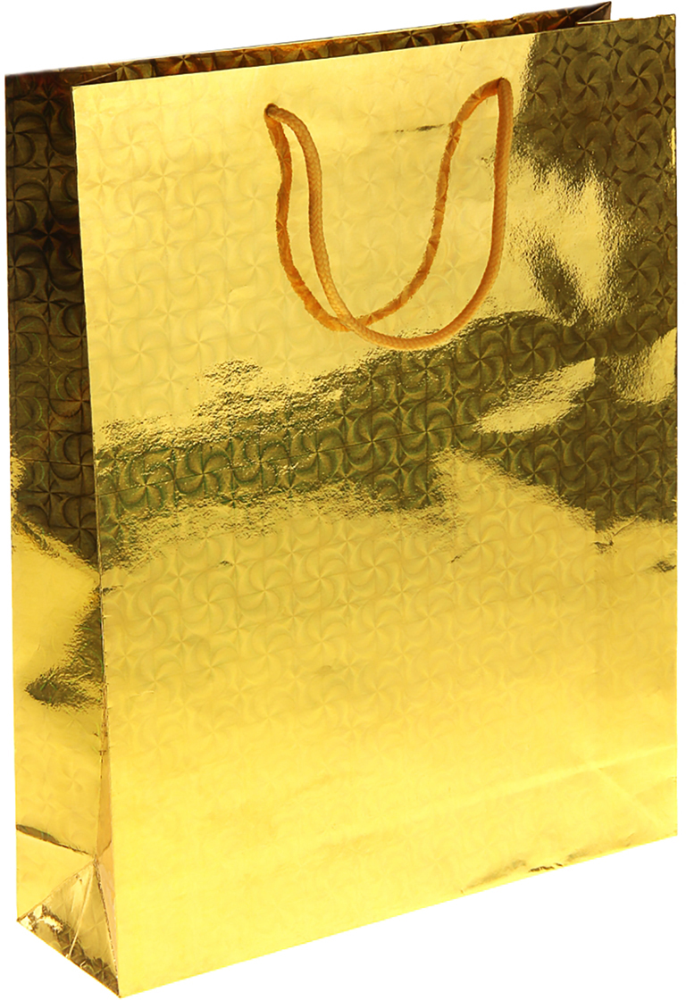 Пакет подарочный Рисунок, голографический, цвет: золотой, 26 х 8 х 34 см. 822522822522Любой подарок начинается с упаковки. Что может быть трогательнее и волшебнее, чем ритуал разворачивания полученного презента. И именно оригинальная, со вкусом выбранная упаковка выделит ваш подарок из массы других. Она продемонстрирует самые теплые чувства к виновнику торжества и создаст сказочную атмосферу праздника. Пакет голографический - это то, что вы искали.