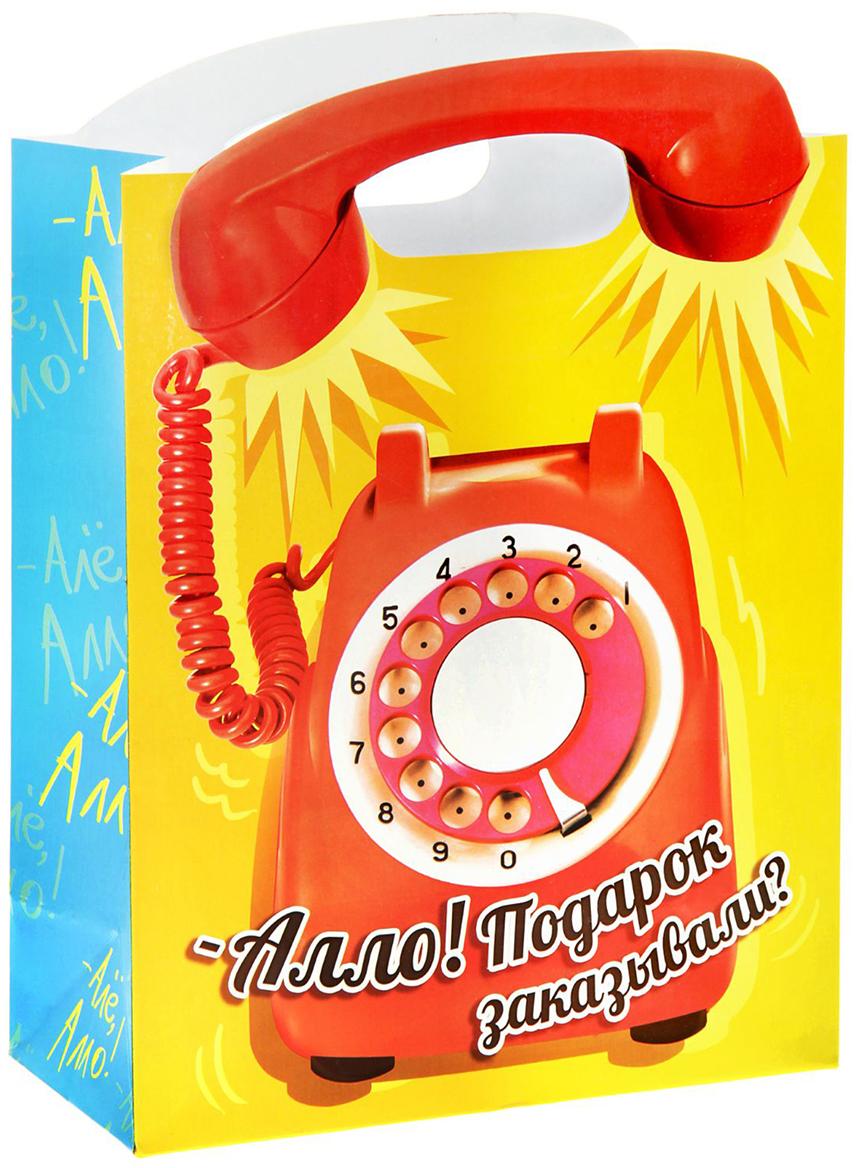 Пакет подарочный Дарите Счастье Телефон, цвет: мультиколор, 12 х 26 х 35 см. 836845836845Не пропустите ограниченную серию подарочных пакетов с креативными ручками!Упаковка сделана из плотного картона 210 г/м2 с вырубной ручкой, которая продолжает основной рисунок. Пакет создан дизайнерами, вдохновленными мировыми выставками по самой оригинальной подарочной упаковке. Удивляйте не только подарком, но и его оформлением!