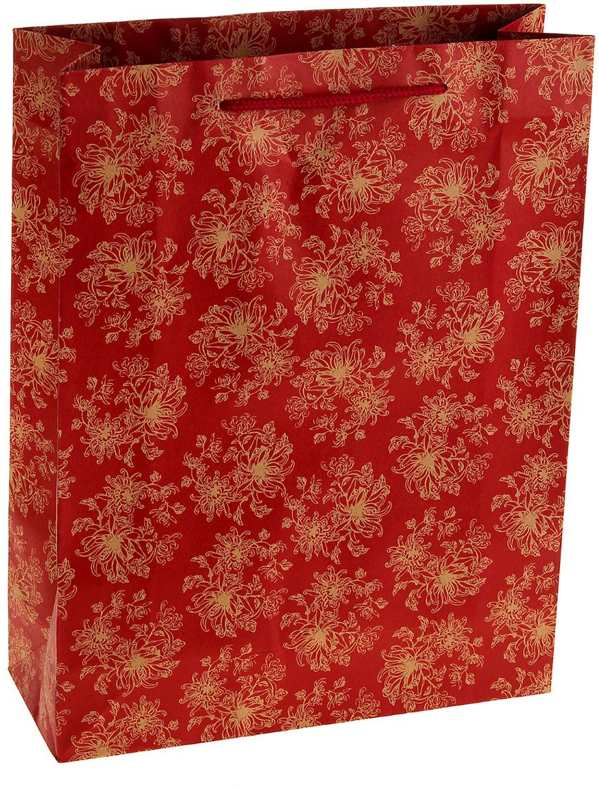 Пакет подарочный Огненный цветок, цвет: красный, 14 х 7 х 18 см. 852508852508Любой подарок начинается с упаковки. Что может быть трогательнее и волшебнее, чем ритуал разворачивания полученного презента. И именно оригинальная, со вкусом выбранная упаковка выделит ваш подарок из массы других. Она продемонстрирует самые теплые чувства к виновнику торжества и создаст сказочную атмосферу праздника. Пакет-крафт Огненный цветок - это то, что вы искали.